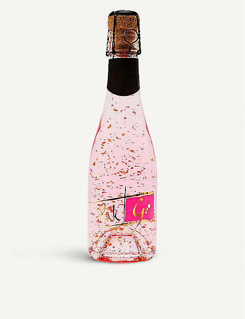 IL GUSTO: Sparkling 22ct gold flake pink gin 200ml
