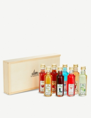 IL GUSTO Miniature gin liqueur set of eight