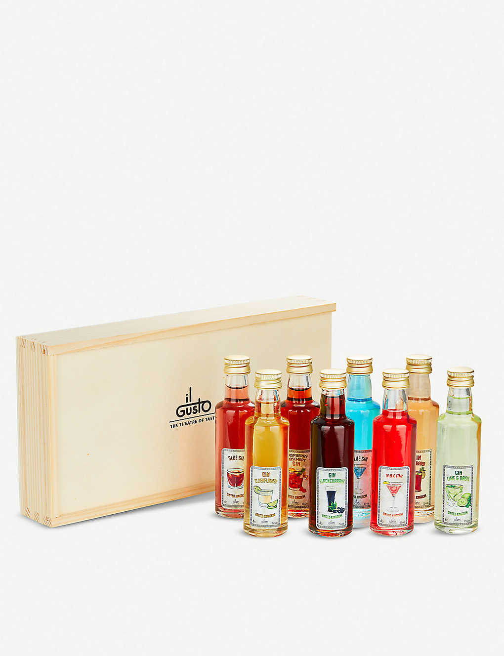 IL GUSTO: Miniature gin liqueur set of eight