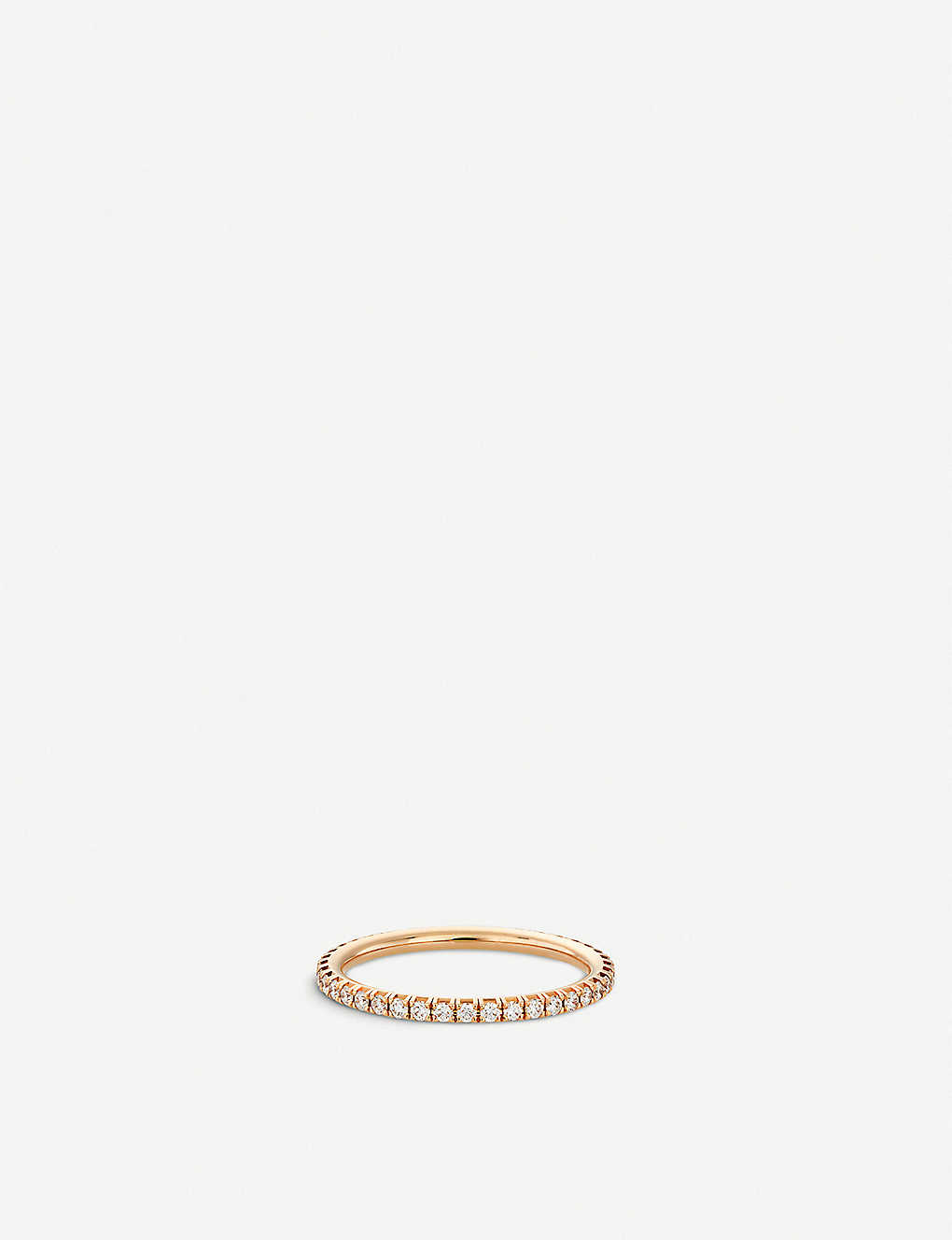 DE BEERS: Aura pink-gold and diamond band ring