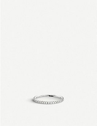 DE BEERS: Aura white-gold and diamond band ring
