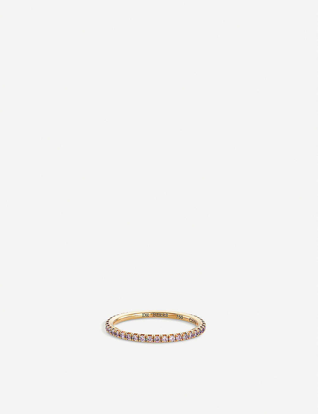 DE BEERS: Aura pink-gold and pink diamond band ring
