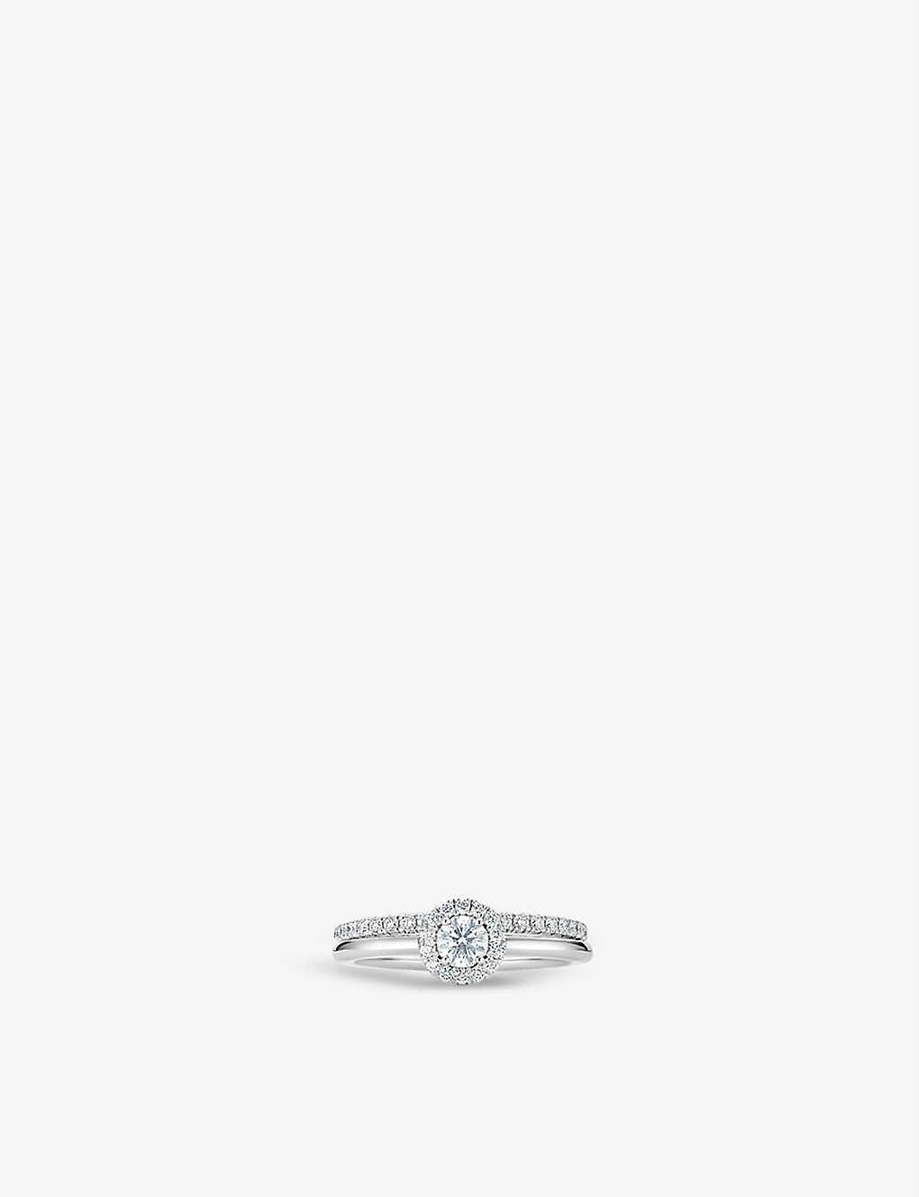 230bb1df45c2c6 DE BEERS - My First De Beers Aura Solitaire platinum and diamond ...