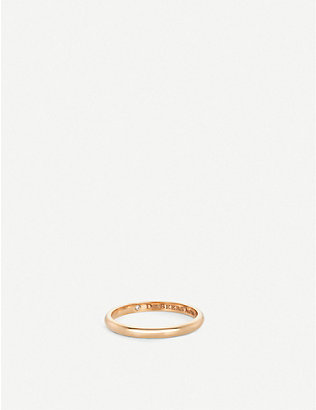 DE BEERS: Classic pink-gold and diamond wedding band