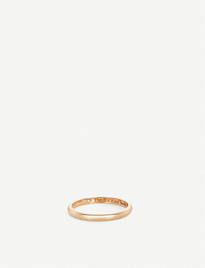 DE BEERS Classic pink-gold and diamond wedding band