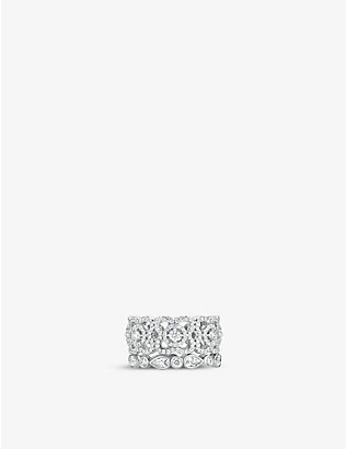 DE BEERS: Enchanted Lotus white-gold and diamond ring