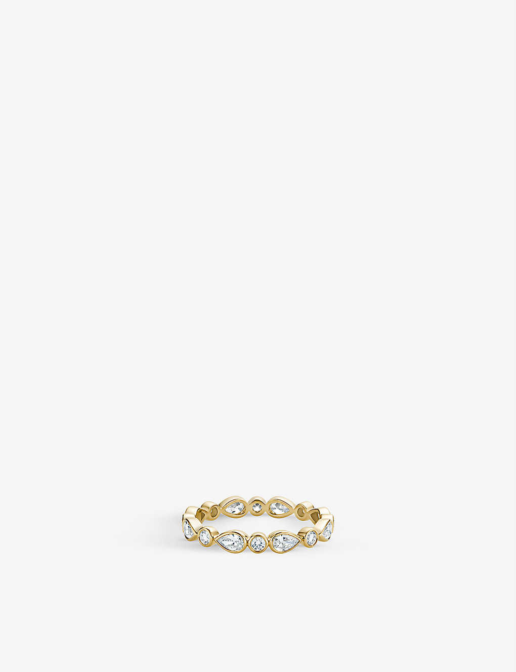 DE BEERS: Petal 18ct yellow-gold and diamond ring