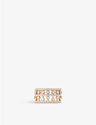 DE BEERS: Dewdrop 18ct rose-gold and diamond ring