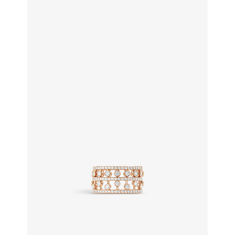 De Beers Accessories DEWDROP 18CT ROSE-GOLD AND DIAMOND RING