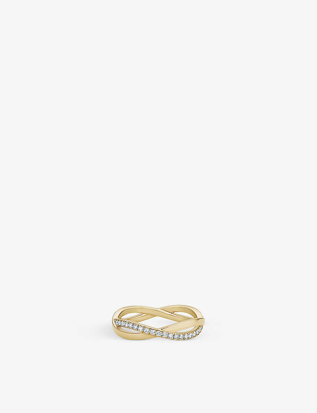 DE BEERS: Infinity yellow-gold and pavé diamond ring