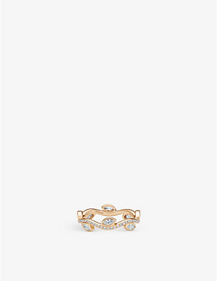 DE BEERS: Adonis Rose pink-gold and diamond ring