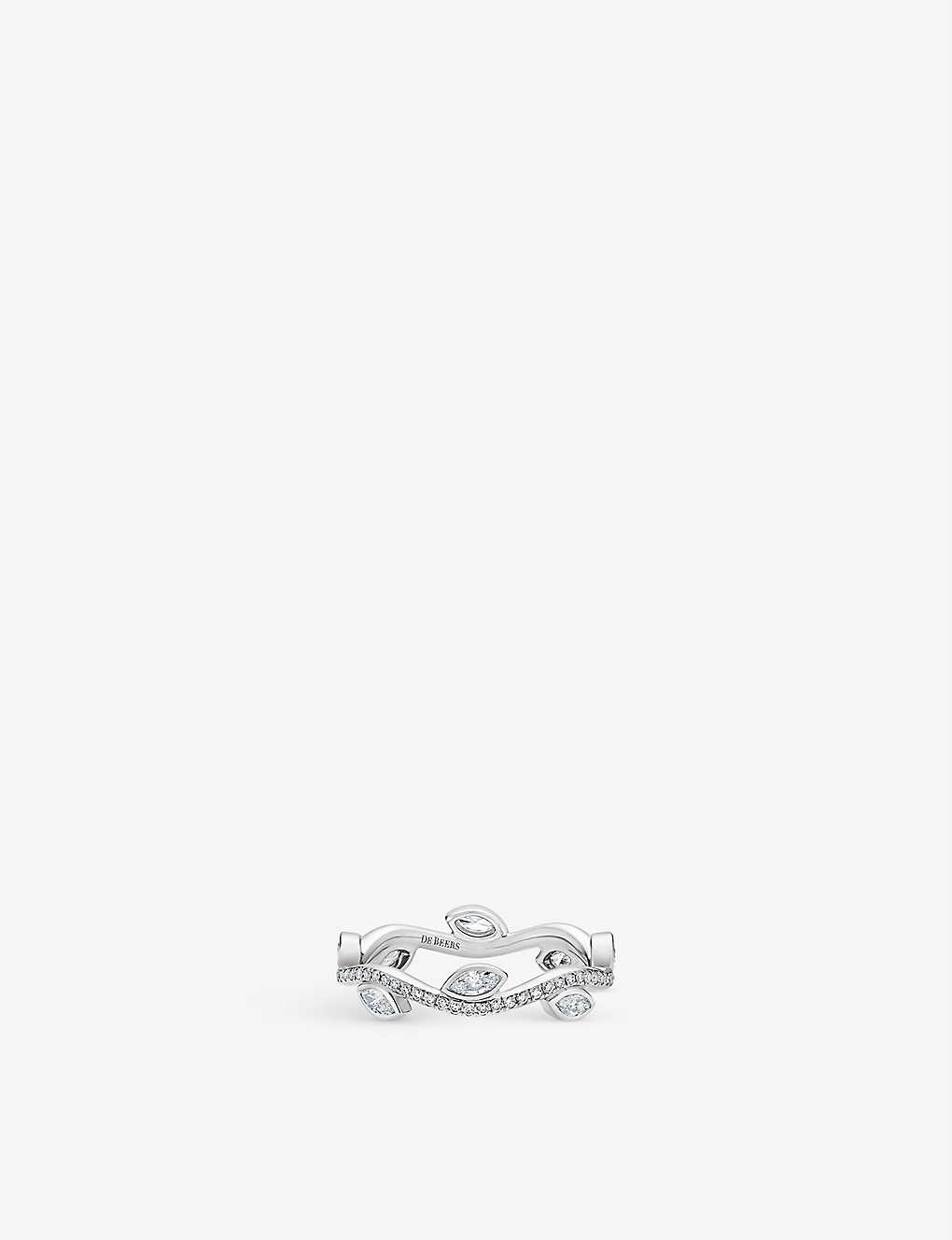 DE BEERS: Adonis Rose platinum and diamond ring