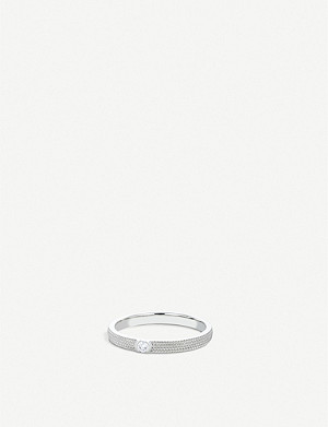 DE BEERS Azulea white-gold solitaire ring