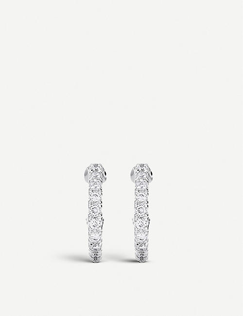 DE BEERS Micropavé 18ct white-gold and diamond earrings