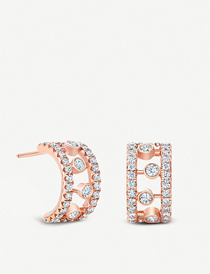 DE BEERS Dewdrop 18ct rose gold diamond earrings