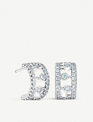 DE BEERS Dewdrop 18ct white gold diamond earrings