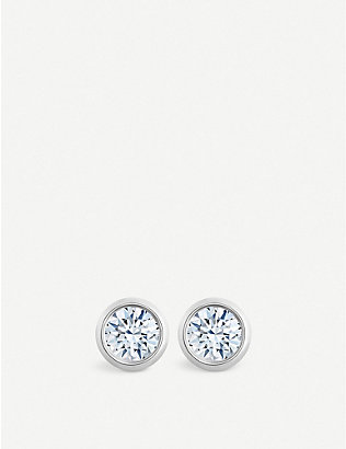 DE BEERS: My First De Beers Clea 18ct white-gold and diamond stud earrings