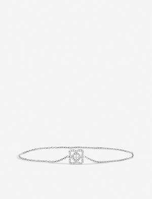 DE BEERS Enchanted Lotus white-gold and diamond bracelet