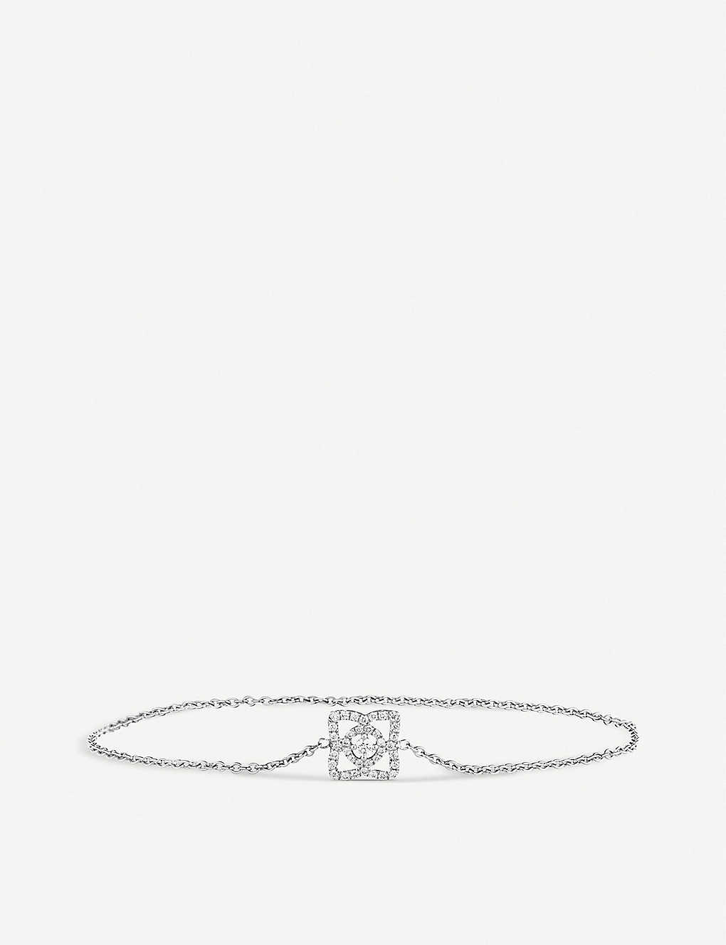 DE BEERS: Enchanted Lotus white-gold and diamond bracelet