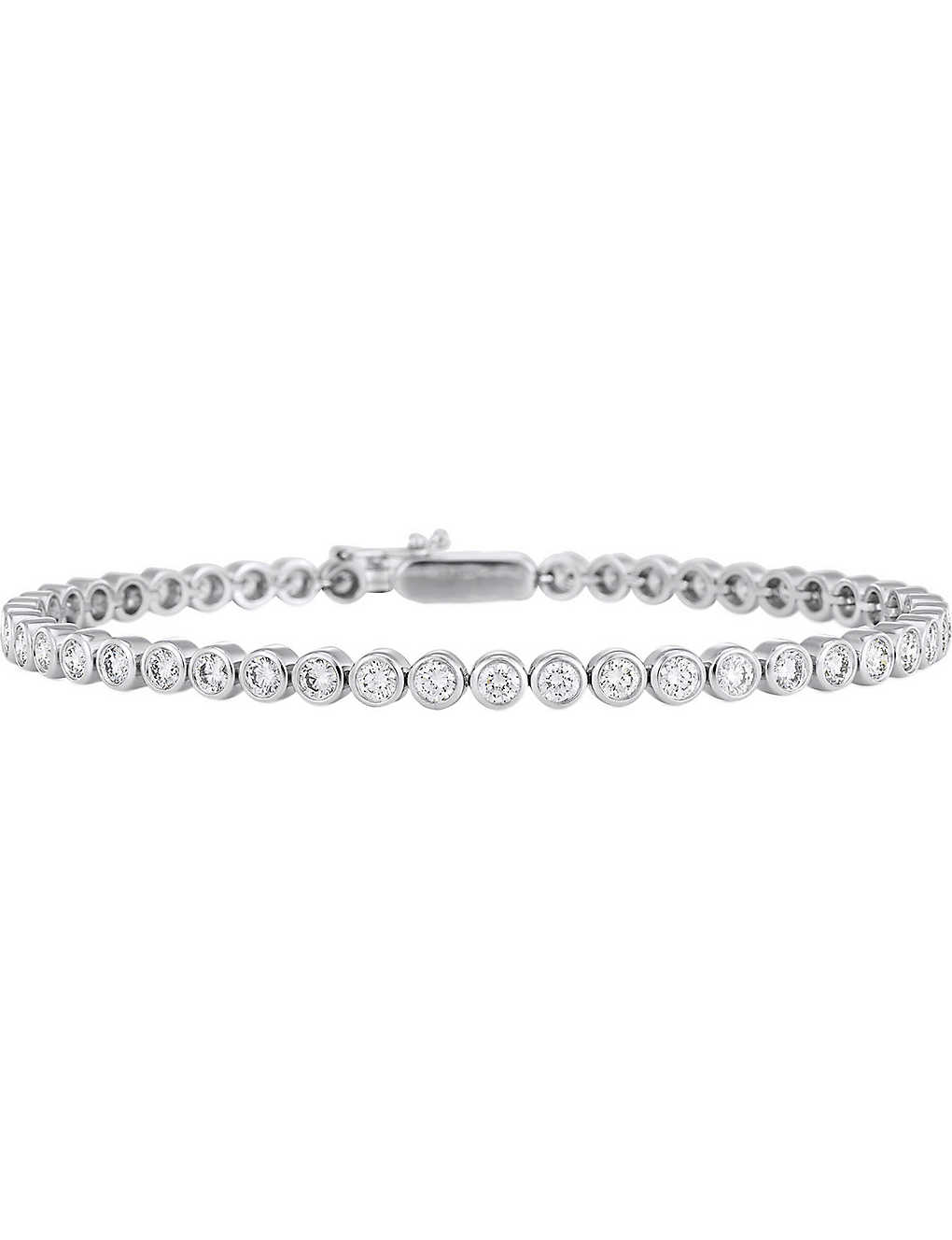 DE BEERS: Eternity 18ct white-gold and diamond bracelet