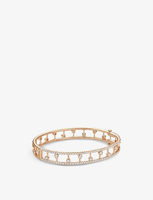 DE BEERS Dewdrop 18ct rose gold diamond band bracelet