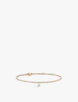 DE BEERS My First De Beers One Diamond rose gold and bracelet