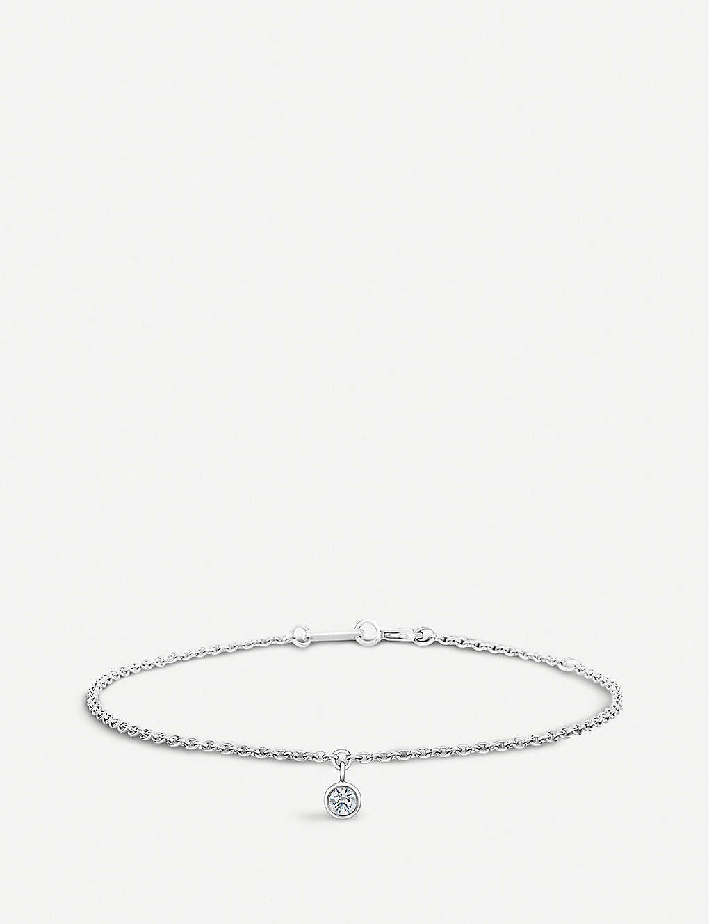 DE BEERS: My First De Beers White Gold One 18ct Diamond bracelet