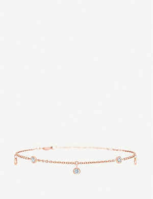 DE BEERS My First De Beers Five Diamond rose gold diamond bracelet