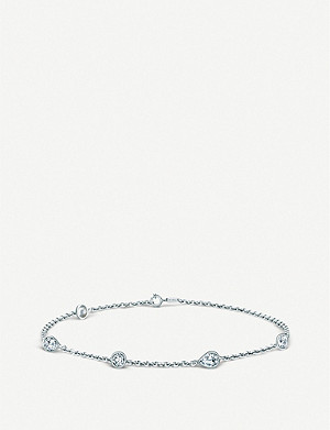 DE BEERS Clea 18ct white-gold and diamond bracelet