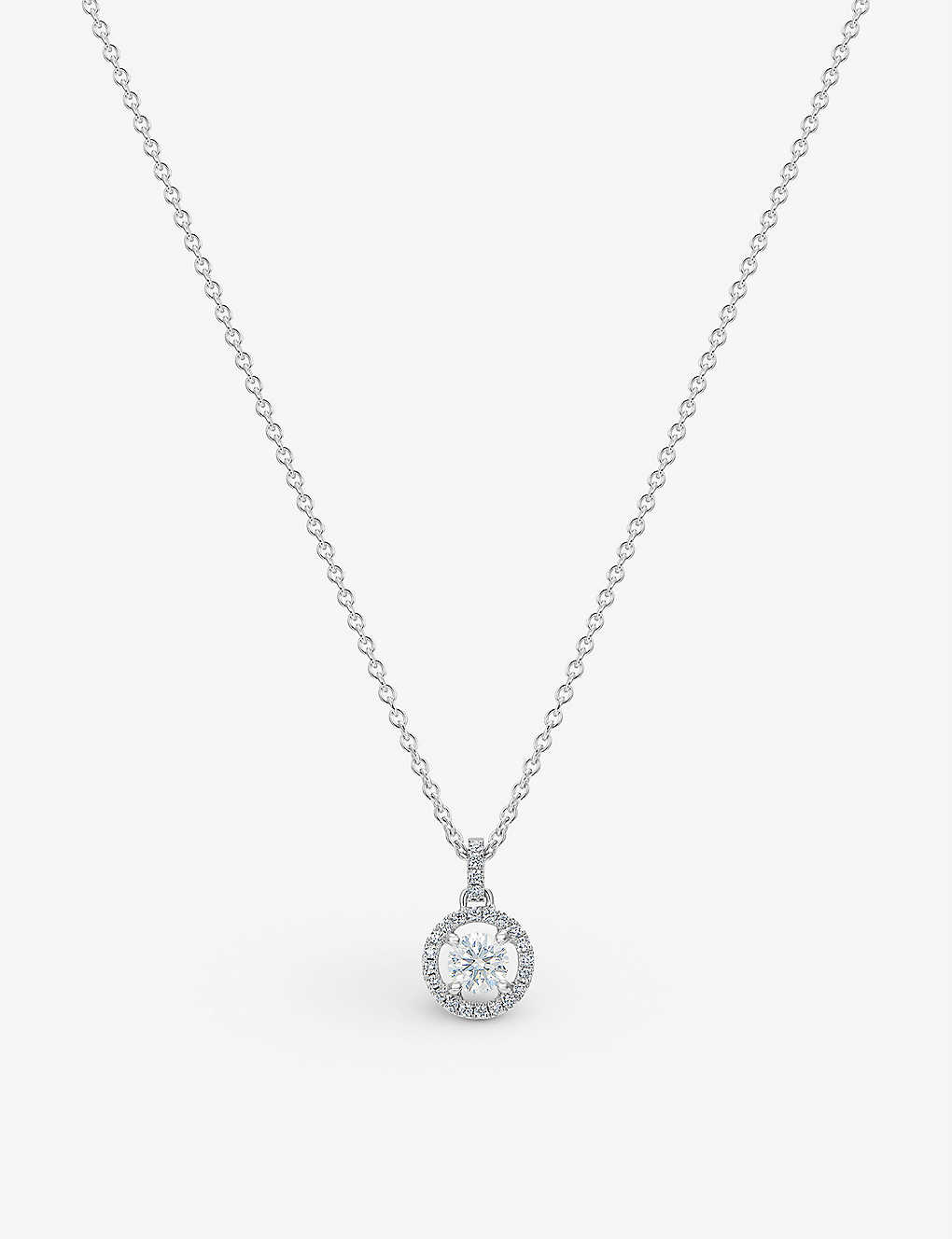 e568a3665b2d1 My First De Beers Aura white-gold diamond pendant necklace