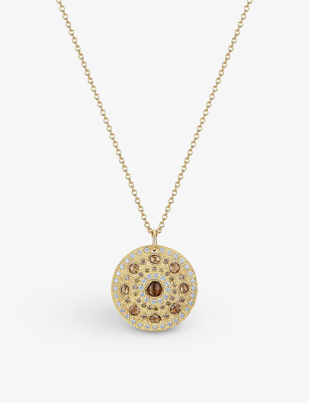 DE BEERS: Talisman 18ct yellow-gold large medallion