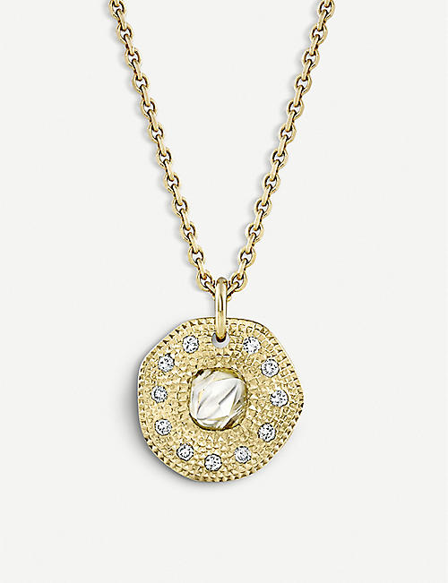 DE BEERS Talisman 18ct yellow-gold and diamond pendant