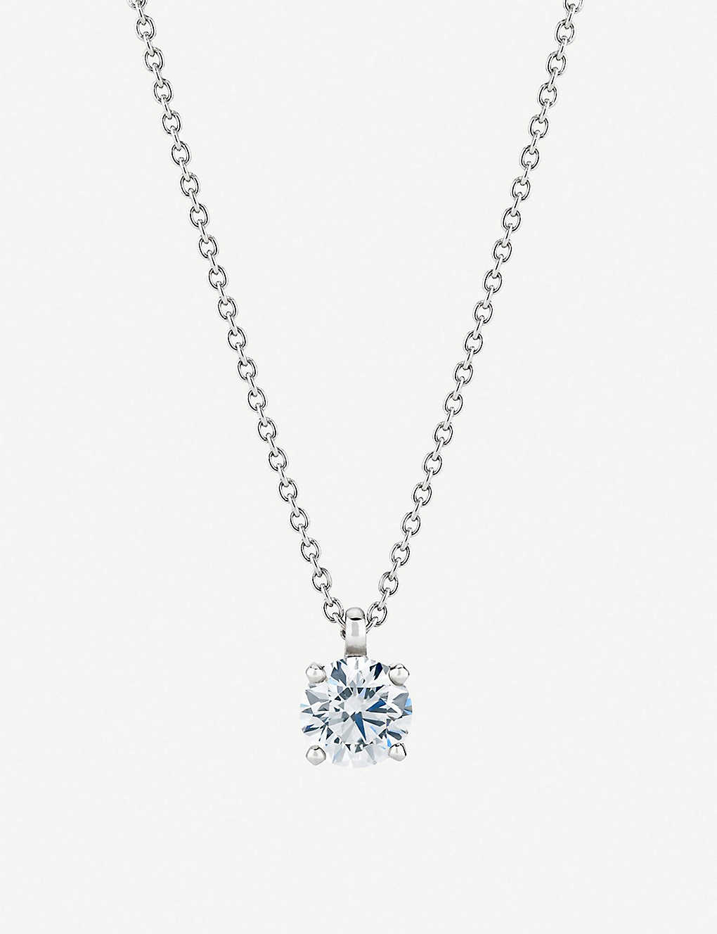 2b7ff0b6eeb8a My First De Beers Classic Pendant white gold diamond necklace