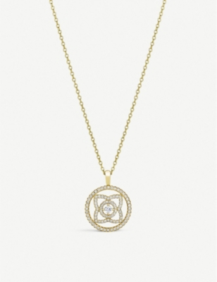 DE BEERS Enchanted Lotus 18ct yellow-gold and diamond pendant