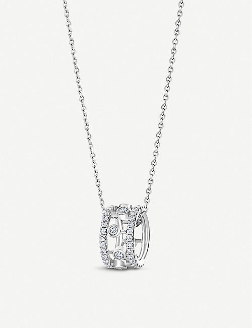 DE BEERS Dewdrop 18ct white-gold and diamond pendant necklace
