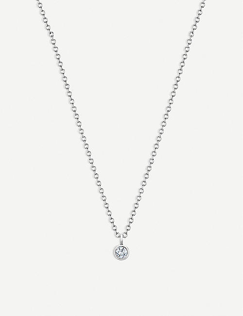 DE BEERS: My First De Beers White Gold One 18ct Diamond pendant