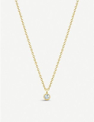 DE BEERS: My First De Beers 18ct yellow-gold and diamond necklace