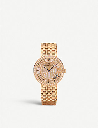 CARL F BUCHERER: 0010309039331 Adamavi rose gold-plated and diamond watch