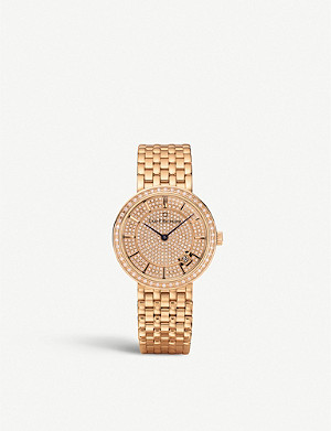 CARL F BUCHERER 0010309039331 Adamavi rose gold-plated and diamond watch