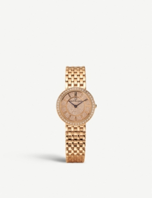 CARL F BUCHERER 00.10310.03.93.31 Adamavi 18ct rose-gold and diamond watch