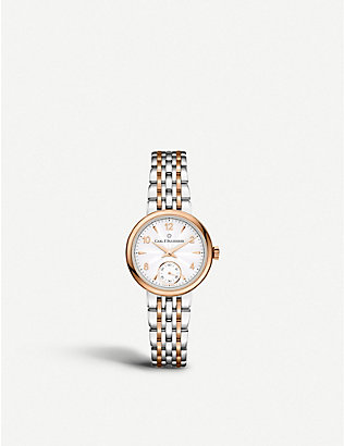 CARL F BUCHERER: 00.10317.07.26.21 Adamavi Stainless steel rose-gold sapphire crystal watch
