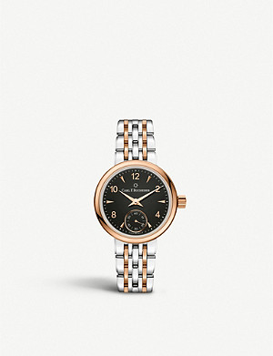 CARL F BUCHERER 00.10317.07.36.21 Adamvi stainless steel and 18ct rose-gold hand wound watch
