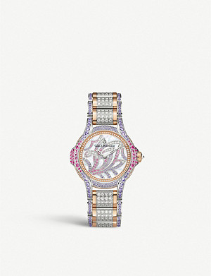 CARL F BUCHERER 00.10590.09.90.31 Pathos Swan Limited Edition 18ct rose-gold, diamond and sapphire watch
