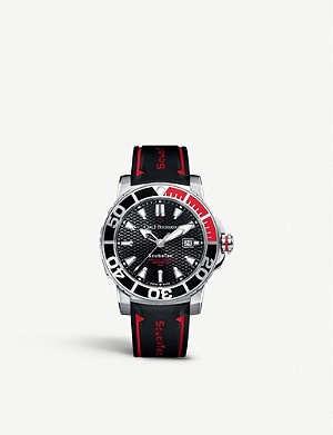 CARL F BUCHERER 00.10632.23.33.02 Patravi ScubaTec stainless steel and rubber watch