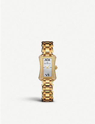 CARL F BUCHERER: 00.10703.01.71.32 Alacria 18ct yellow-gold and diamonds watch