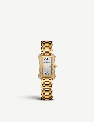 CARL F BUCHERER 00.10703.01.71.32 Alacria 18ct yellow-gold and diamonds watch