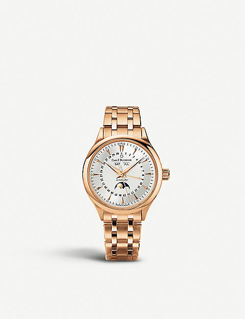 CARL F BUCHERER: 00.10909.03.13.21 Manero Moonphase 18ct rose-gold watch