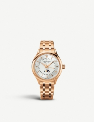 CARL F BUCHERER 00.10909.03.13.21 Manero Moonphase 18ct rose-gold watch
