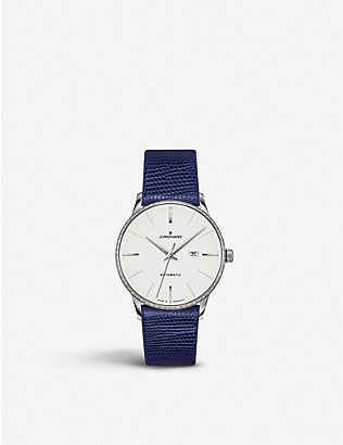JUNGHANS: 027/4846.00 Meister Damen stainless steel and leather watch