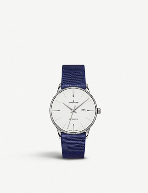 JUNGHANS 027/4846.00 Meister Damen stainless steel and leather watch
